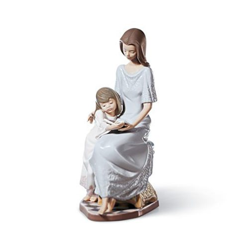 lladro 01005457 BEDTIME-STORY Available at Mirage Fine Jewelers