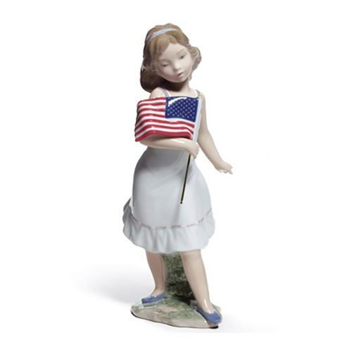 lladro 01008579 LET FREEDOM RING! Available at Mirage Fine Jewelers