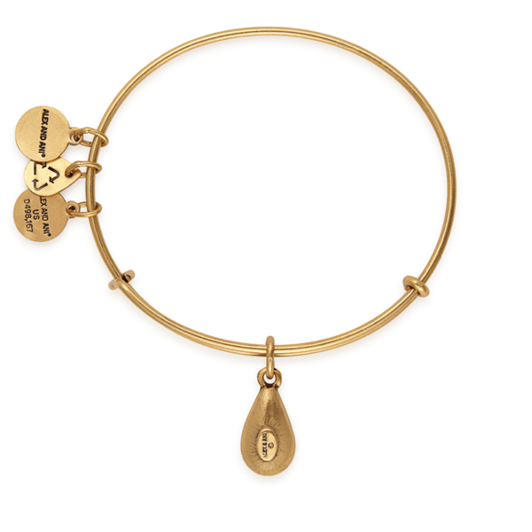 e5115200a2969 Gold May Birth Month Charm Bangle With Swarovski Crystals